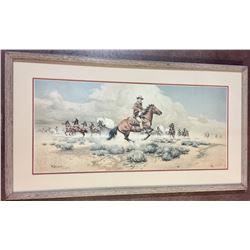Signed Frank McCarthy Print of John Wayne