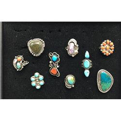 Group of Nine Vintage Rings