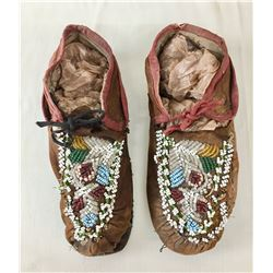 Antique Iroquois Beaded Moccasins