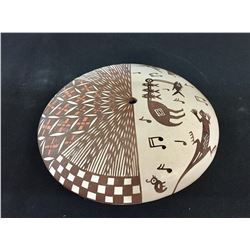 Acoma Seed Pot with Mimbres Designs