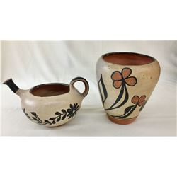 Two Cochiti Pueblo Pots