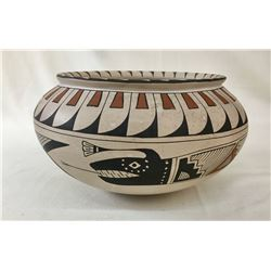 Mata Ortiz Water Serpent Pottery Bowl