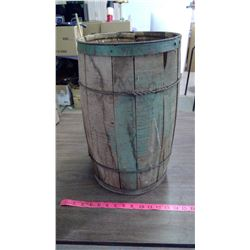 Wooden Nail Keg (Has some damage)