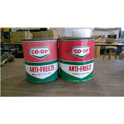 2- CO-OP Antifreeze Tins