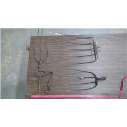 3- Fork Tines & 2- Meat Hooks