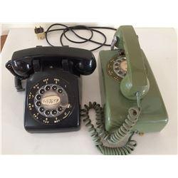 2 Rotary Telephones