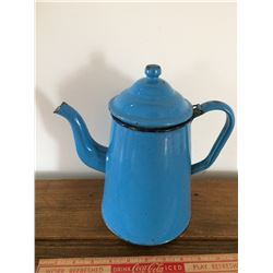 Blue Enamel Tea Pot