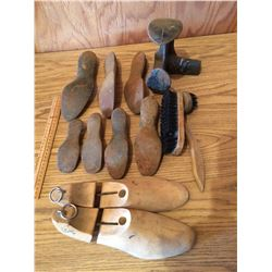 Shoe Repair Lasts, Stretchers and Brush