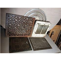 Floor Grates and Heat Vent