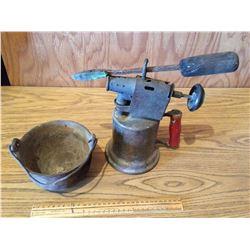 Blow Torch, Iron and Babbitt Pot