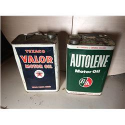 1 Texaco & 1 B/A tin