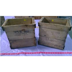 """TWO WOOD BOXES - 7"""" X 12"""" X 11.5"""""""