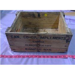 """CO-OP WOODEN BOX - 14"""" X 10.5"""" X 6"""""""