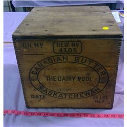 """BUTTER BOX WITH LID - 13"""" X 13"""" X 12"""""""