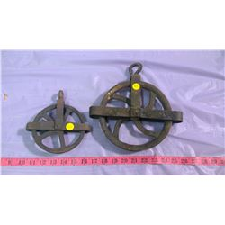 TWO PULLEYS