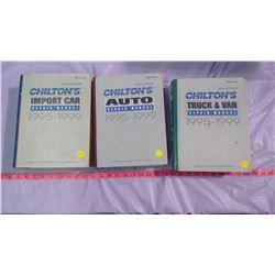 THREE CHILTON REPAIR BOOKS