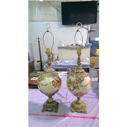 TWO VINTAGE ELECTRIC LAMPS
