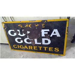 "GUINEA GOLD PORCELAIN SIGN - 28"" X 15.5"""
