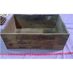"""WOODEN CRATE - 22"""" X 14.5"""" X 8"""""""