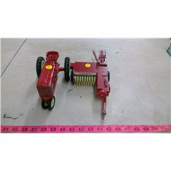 INTERNATIONAL TRACTOR AND BALER TOY