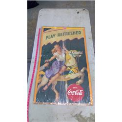1948 Coca-Cola Poster (Can't Verify if Original or Reissue)