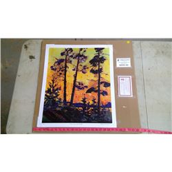 """Tom Thompson """"Pine Trees At Sunset"""" Reproduction Painting"""