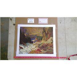 "J.E.H MacDonald ""River and Rapids"" Reproduction Painting"