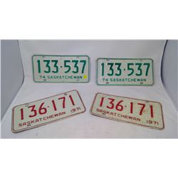 2 Pairs of License Plates