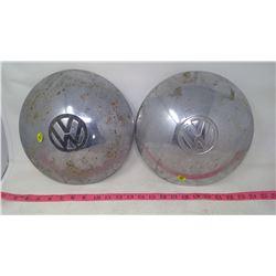 2 VW HUB CAPS