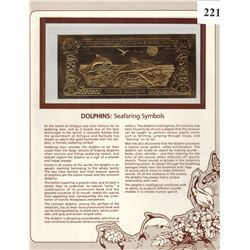 GOLD BANK NOTE - ANTIGUA & BARBUDA - DOLPHINS - 30 DOLLARS - LEGAL TENDER