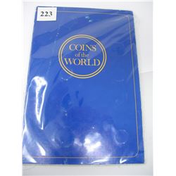 COINS OF THE WORLD ALBUM with COINS