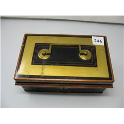 VINTAGE METAL CASH BOX - Has Key but Lock does not work