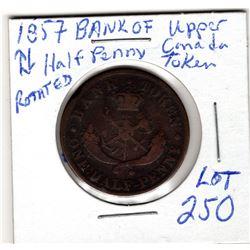 1857 Dragon slayer half penny bank token