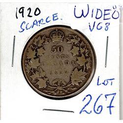 1920 scarce wide 0 50 cent piece