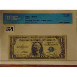 1935 U.S.A. one dollar silver certificate