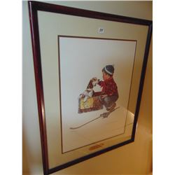 """Norman Rockwell print """"boy and his dog"""""""