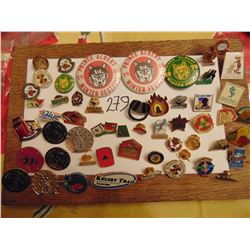 large lot of vintage lapel pins