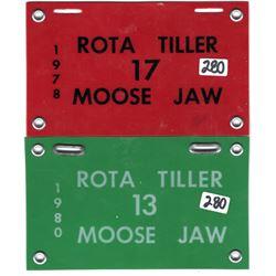 1978 1980 Moose Jaw Rota Tiller licenses