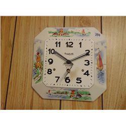 Vintage Forestville 8 day clock with key-runs