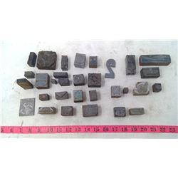 Lead Printing Press Letters & Symbols (Advertisement, etc.)