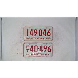 2- License Plates ('71, '75)