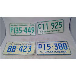 4- License Plates ('70, '72, '74, '76)