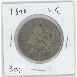 1878 U.S SILVER DOLLAR