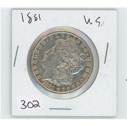 1881 U.S SILVER DOLLAR