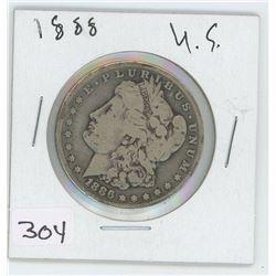 1886 U.S SILVER DOLLAR