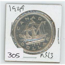 1949MS-63 CANADIAN DOLLAR