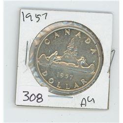 1957AU CANADIAN DOLLAR