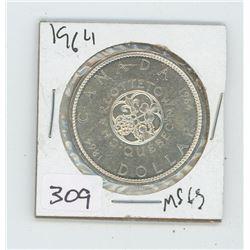 1864-1964MS-65 CHARLOTTETOWN QUEBEC CANADIAN DOLKLAR