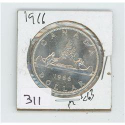 1966MS-63 CANADIAN DOLLAR