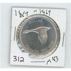 1867-1967MS-63 CANADIAN DOLLAR